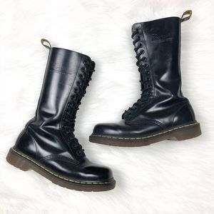 Dr Martens 1914 Smooth Black 14 Eye Combat Boots
